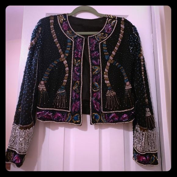 Vintage Jackets & Blazers - Unique Vintage beaded embellished trophy jacket